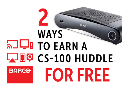 Barco: Two ways to earn a CS-100 Huddle
