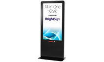 Peerless-AV - KIPICT555 All-In-One Portrait Kiosk Powered by BrightSign