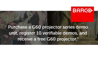 BOGO Projector Promo!  Two G60 demo units for the price of ONE