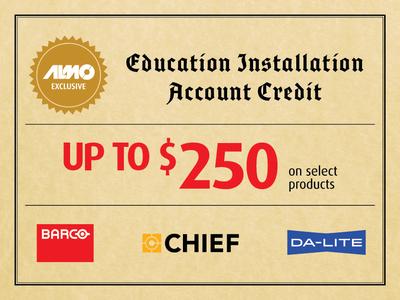 $250 Education Installation Credit