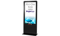 Peerless-AV KIPICT2555 - All-In-One Portrait Kiosk Powered by BrightSign