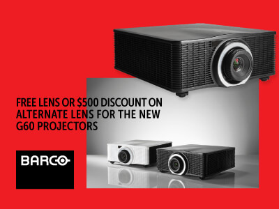 Barco - Free Lens ($1790 value!) or $500 credit