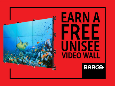 Barco: Earn Your FREE Barco UniSee Video Wall Today!